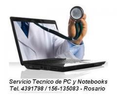 Servicio tecnico de PC a domicilio 4391798,156135083 Rosario