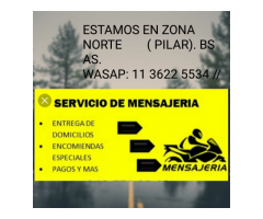 MENSAJERIA INTEGRAL PILAR BS AS WASAP 11 3622 5534..