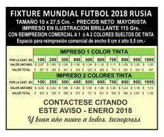 FIXTURE MUNDIAL FUTBOL RUSIA 2018 CON PUBLICIDAD COMERCIAL