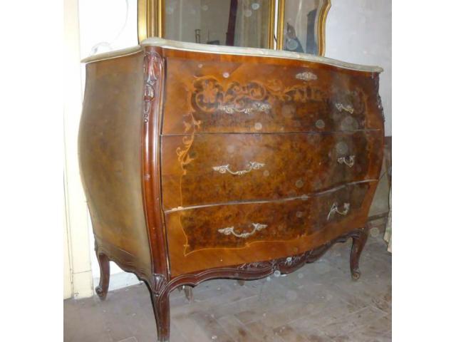 Muebles antiguos con mesadas de marmol lan s segunda for Muebles antiguos argentina