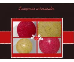Lamparas de hilo artesanales, varias medidas, a pedido - Imagen 2/2