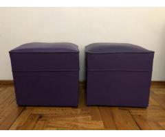 Puffs cuadrados violeta