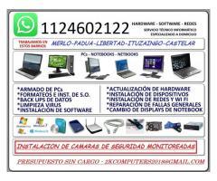 SERVICIO TECNICO PC - NOTEBOOKS - NETBOOKS - REDES - CAMARAS DE SEGURIDAD