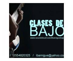 CLASES DE BAJO ELÉCTRICO
