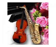 Clases de violín, piano y saxo para principiantes