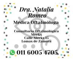 Oftalmóloga- Dra. Natalia L. Romeo