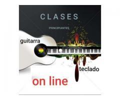CLASES DE GUITARRA O TECLADO - ON LINE