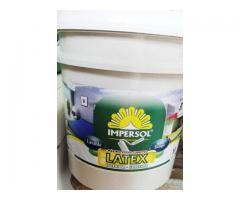 PINTURA LATEX BLANCO EXTERIOR/INTERIOR 20 LITROS IMPERSOL