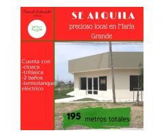 SE ALQUILA LOCAL COMERCIAL AMPLIO(MARÍA GRANDE-ENTRE RÍOS)