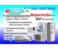 AIRE SPLIT VENTANA HELADERA NO FROST REPARACION SERVICE llamadas wap