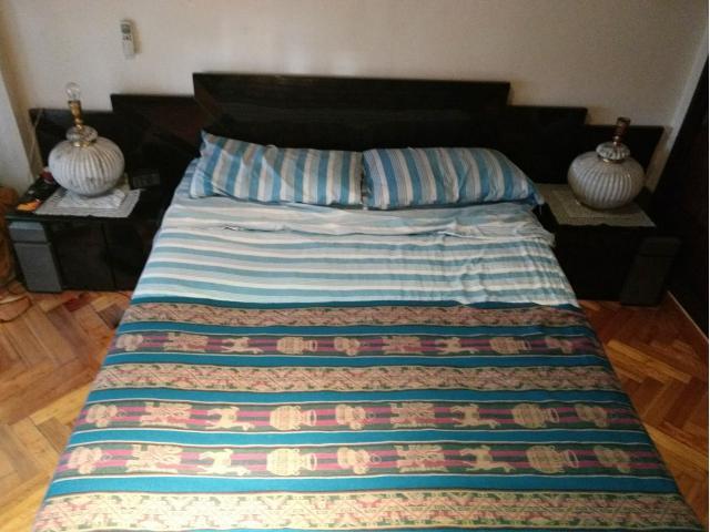 Juego cama 2 plazas respaldo mesas de luz usados for Sillon cama 2 plazas capital federal