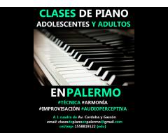 CLASES DE PIANO Z/PALERMO ALMAGRO