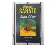 Libro Antes del Fin - Ernesto Sabato - Memorias - Seix Barral