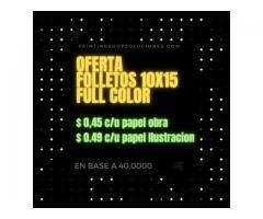 Imprenta de Folletos / Volantes / Flyers