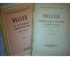 HELLER: 2 LIBROS DE ESTUDIO PARA PIANO