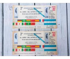 Entradas antiguas 7ma Feria del Libro Año 1981