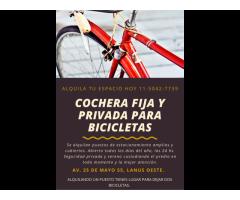 GUARDERIA DE BICICLETAS EN GBA ZONA SUR