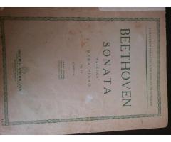 PARTITURA: BEETHOVEN (SONATA PATÉTICA para piano.