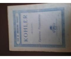 PARTITURAS: KOHLER (Ejercicios p/niños en piano)