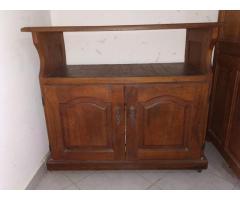Mueble TV/video, mesa auxiliar algarrobo