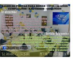ALQUILO SALON PARA EVENTOS