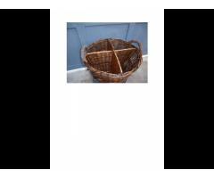 Antiguo Canasto - Cesta de mimbre artesanal -