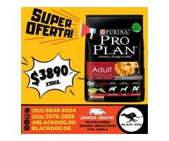 (((OFERTA IMPERDIBLE))) Pro Plan adulto x 15 kg + ENVÍO = $3890!