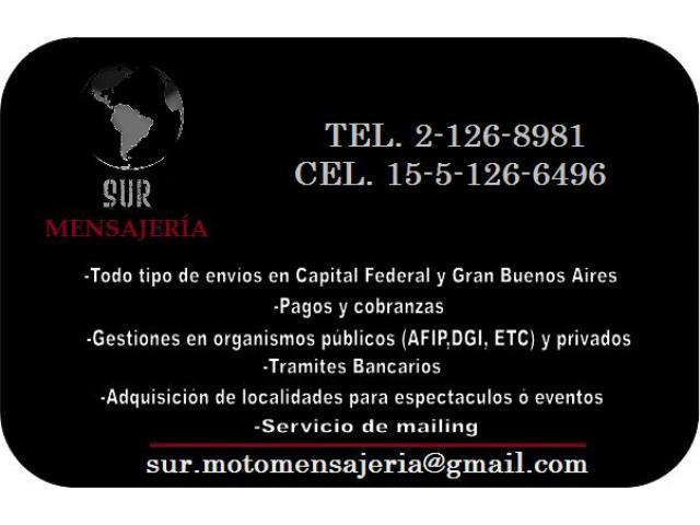 Sur Mensajeria / Motomensajeria Envios Capital y Gba servicio moto - 4/4