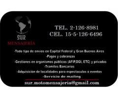 Sur Mensajeria / Motomensajeria Envios Capital y Gba servicio moto - Imagen 4/4