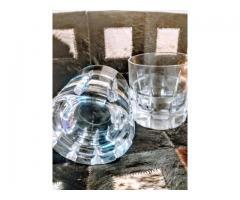 Vasos de whisky tallados