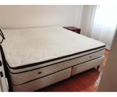 Cama King Size Con Sommier Y Pillow