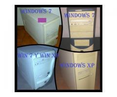 CPU CON SISTEMA WINDOWS 7 ULTIMATE A $3.000 CADA UNA.. HOY..