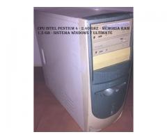 CPU INTEL PENTIUM 4 - 2.40 GHZ -RAM 1,5 GB - WINDOWS 7 ULTIMATE