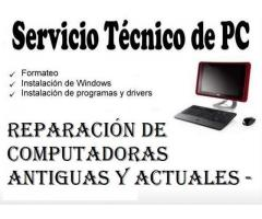 servicio tecnico..instalo windows ..cpu s..ddr1..ddr2..ddr3..