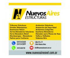 Tribunas Gradas Escenarios Torres Elevadoras Montacargas Andamios Techos Elevaplacas