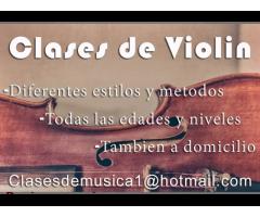 Clases de violín a domicilio! Todas las edades