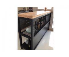 barra desayunadora industrial 150x60x30