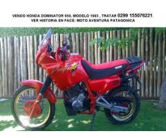 VENDO MOTO HONDA DOMINATOR 650