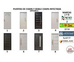 PUERTAS DE CHAPA Y DOBLE CHAPA OPCION 2 NUEVAS ENVIOS