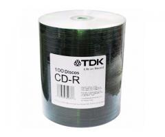 CD VIRGEN TDK X 100 UNIDADES