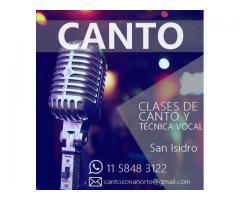 Clases de CANTO en San Isidro