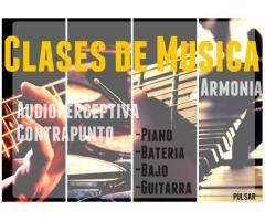 Clases de Musica - Piano - Bateria - Bajo - Guitarra y más
