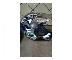 Casco moto cross personalizado shoel usado buen estado