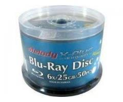 bluray virgen melody 25 gb full printable x 50 unidades