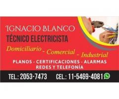ELECTRICISTA MATRICULADO IGNACIO A. BLANCO LOPEZ