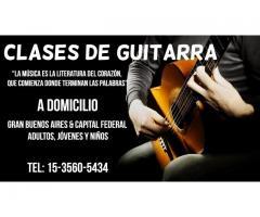 Clases de Guitarra a domicilio todas las edades