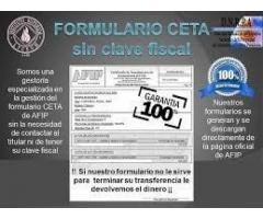 FORMULARIO CETA con o sin CLAVE FISCAL en minutos