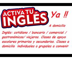 Inglés cotidiano / comercial /bancario/ viajeros / gastronómicos