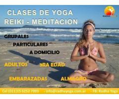 Clases de Yoga, Reiki y Meditacion